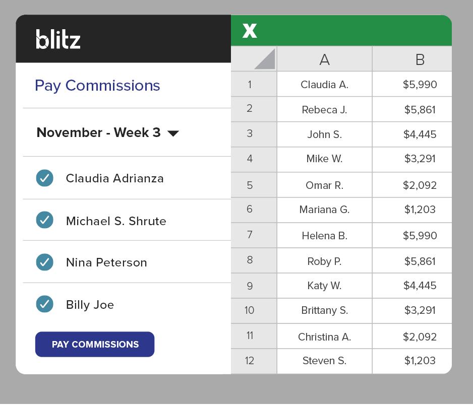 With Blitz, design your commission plans
