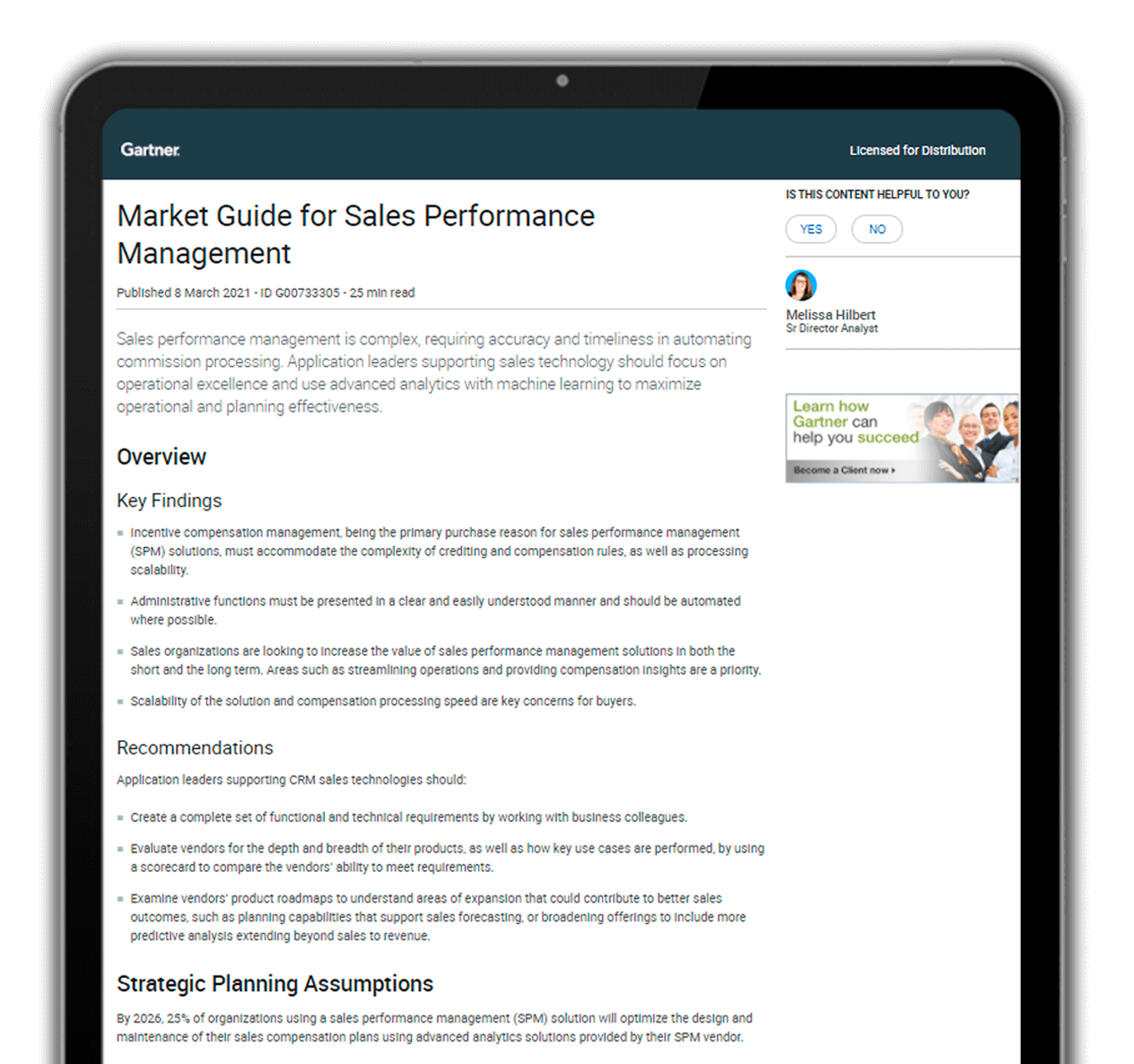 Blitz is proudly recognized by Gartner as Representative Vendor for Sales Performance in its 2021 Market Guide
